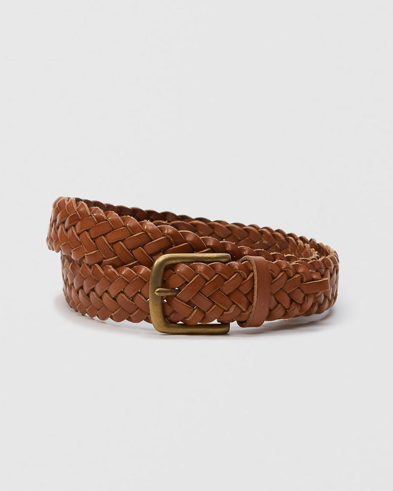 1 1 4 Inch Braided Leather Belt Abercrombie Co Jp