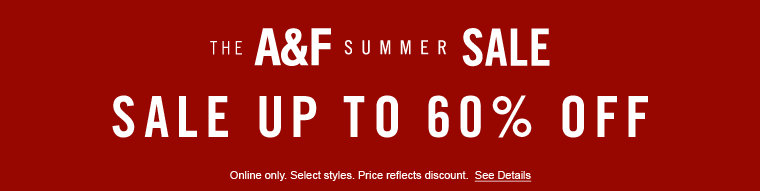 Sale up to 60% off - online only