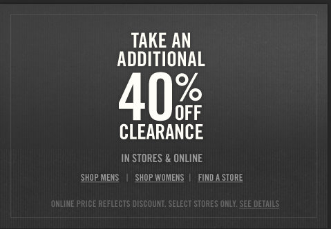 Take an additional 40% off summer styles at Abercrombie & Fitch!