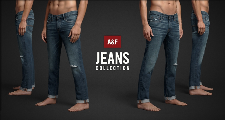 Shop Mens jeans from Abercrombie & Fitch.
