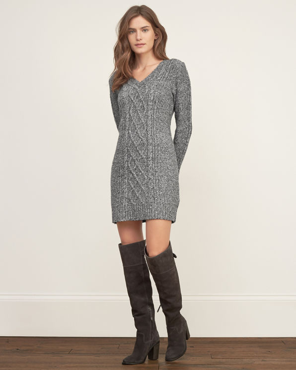 Abercrombie Grey Sweater Dress 58