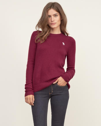 Womens Iconic Crew Sweater