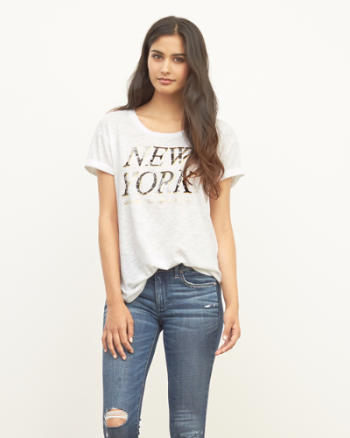Womens New York Shine Graphic Tee