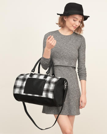 Womens Plaid Duffle Bag