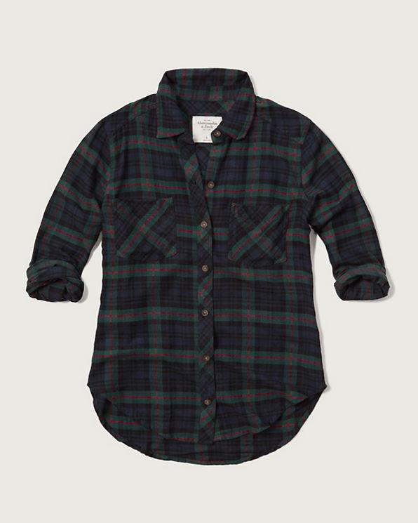 Womens Plaid Flannel Shirt Womens Tops