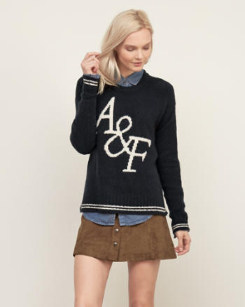 Womens Tipped Statement Logo Sweater