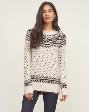 Womens Fair Isle Shine Sweater