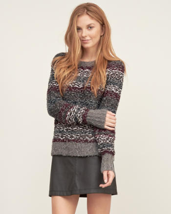 Womens Shine Crew Sweater
