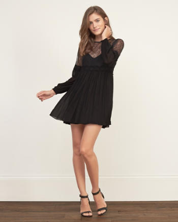 Womens Lace Swing Dress
