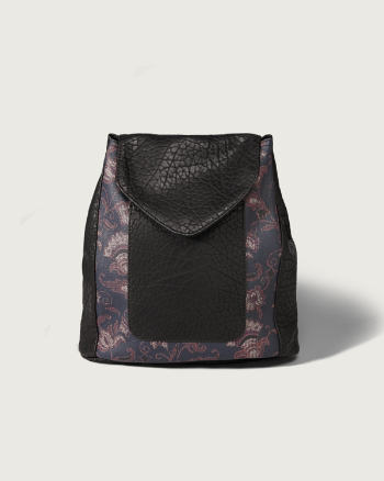 Womens Faux Leather Mini Backpack