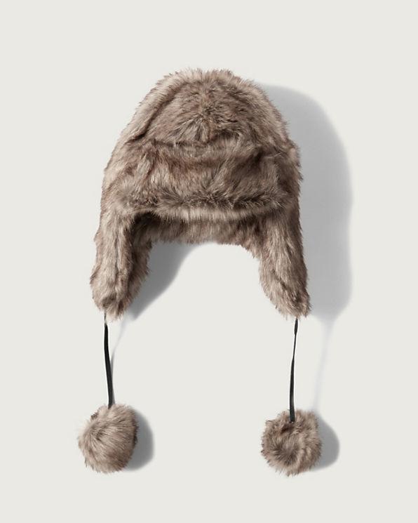 womens faux fur trapper hat