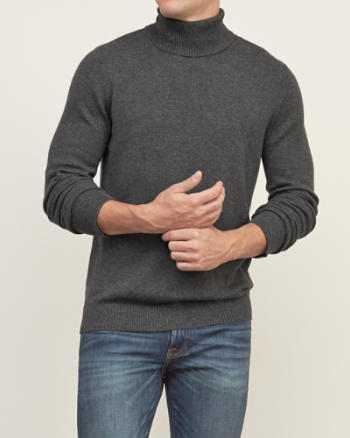 Mens Muscle Fit Turtleneck Sweater
