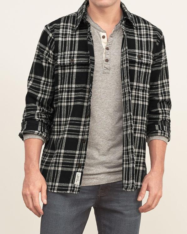mens plaid flannel shirt mens clearance abercrombiecom