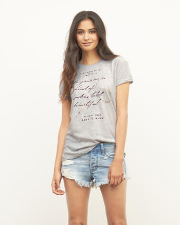 Womens Less Is More Graphic Tee
