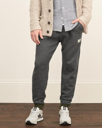 Mens Sweater-trim Zip Joggers