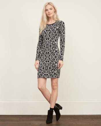 Womens Slim Patterned Dress