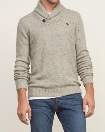 Mens Iconic Shawl Sweater