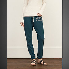A&F Banded Slouchy Sweatpants