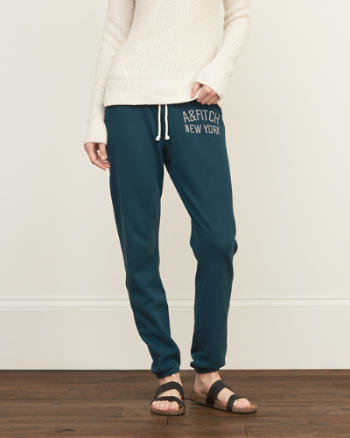 Womens A&F Banded Slouchy Sweatpants