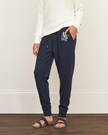Womens A&F Graphic Joggers