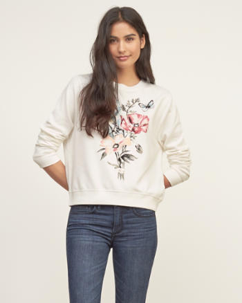 Womens Shine Graphic Sweatshirt