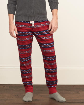 Mens Flannel Sleep Joggers