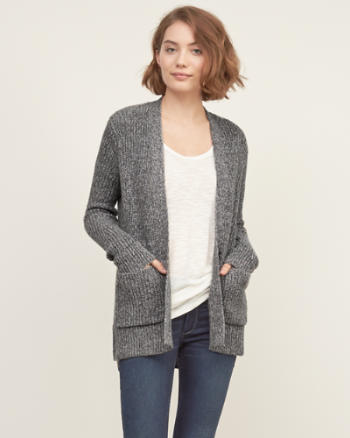 Womens Shaker Stitch Cardigan