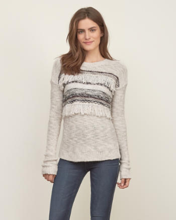 Womens Fringe Detail Sweater