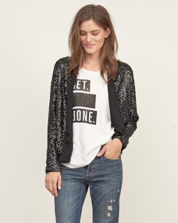 Womens Sequin Jacket