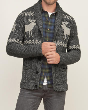 Mens Shawl Cardigan Sweater