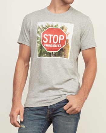 Mens Stop Sign Graphic Tee