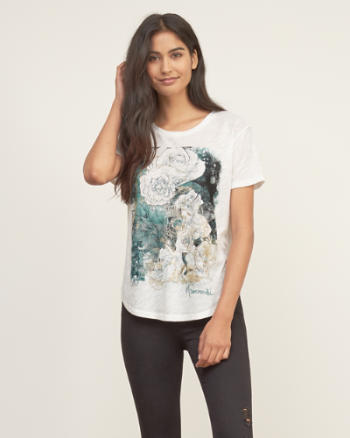 Womens Metallic Graphic Tee