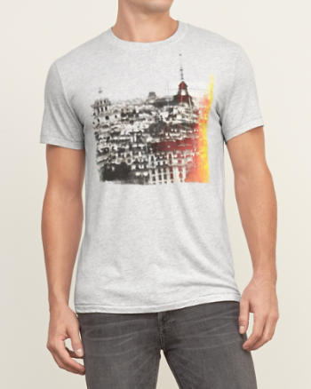 Mens A&F International Graphic Tee