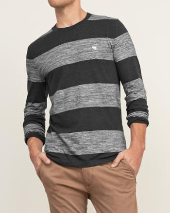 Mens Iconic Stripe Crew Tee