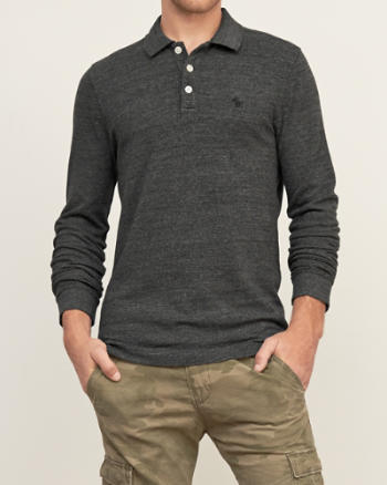 Mens Iconic Long-sleeve Polo