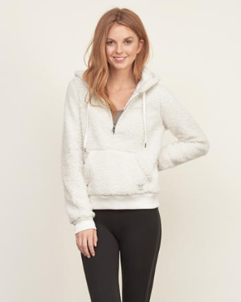 Womens Sherpa Zip Pullover