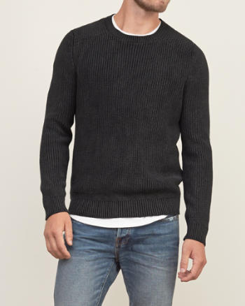 Mens Mix-knit Crew Sweater