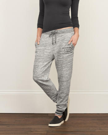 Womens A&F Contrast Joggers