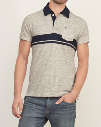 Mens Iconic Stripe Polo