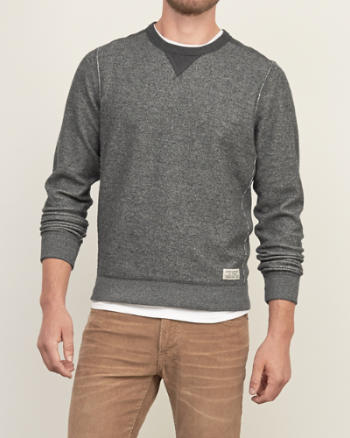 Mens Contrast Fleece Sweatshirt