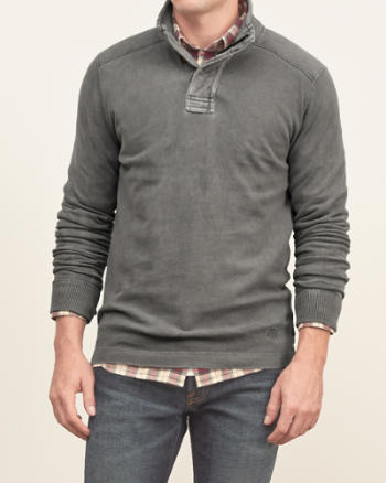 Mens Mockneck Cotton Tee