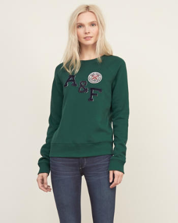 Womens Applique Logo Sweatshirt