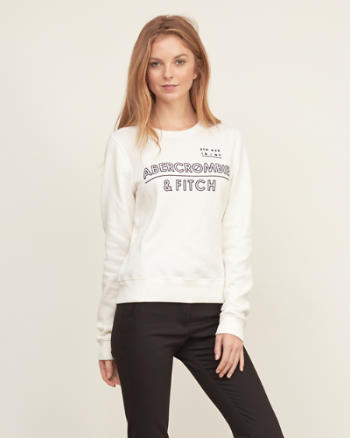 Womens Logo Graphic Sweatshirt