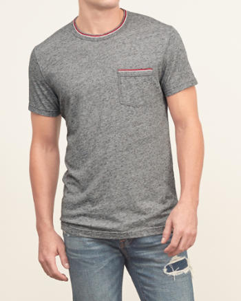 Mens Tipped Pocket Tee