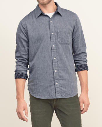Mens Check Contrast Shirt
