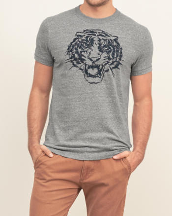 Mens Textured Graphic Tee