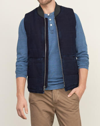 Mens Quilted Puffer Vest