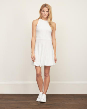 Womens Ribbed Knit Dress