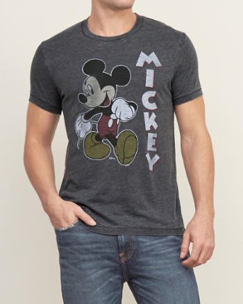 Mens Mickey Graphic Tee