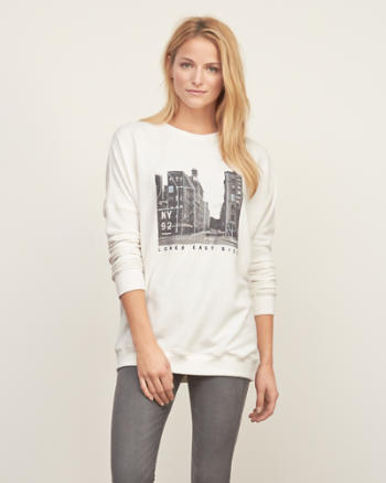 Womens Oversized Graphic Sweatshirt
